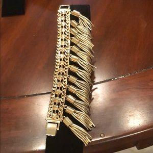 Gold tone statement bracelet from BeBe